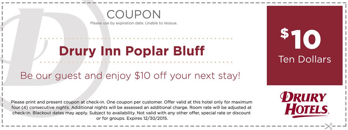 Drury Inn Poplar Bluff Coupon