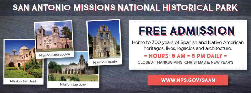 San Antonio Vacation Savings Coupon - Free admission at San Antonio Missions National Historical Park