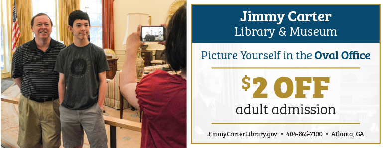 Atlanta Vacation Savings Coupon – $2 off adult admission at the Jimmy Carter Library & Museum