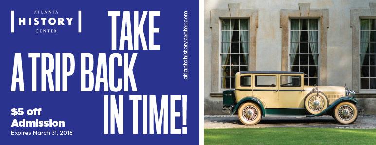 Atlanta Vacation Savings Coupon - $5 off admission at the Atlanta History Center