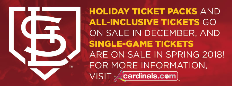 St. Louis Vacation Savings Coupon - St. Louis Cardinals holiday ticket packs, all-inclusive tickets and single-game tickets on sale!