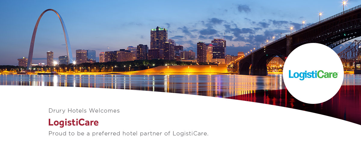 Drury Hotels is proud to be a preferred hotel partner of LogistiCare