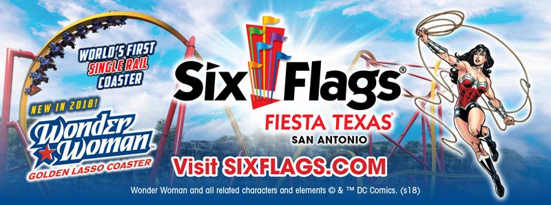 San Antonio Vacation Savings Coupon – $15 off any regular operating day at Six Flags Fiesta Texas San Antonio