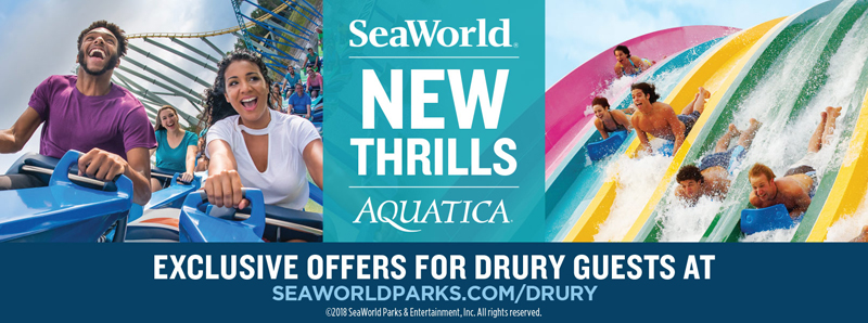 San Antonio Vacation Savings Coupon - Exclusive offers for Drury guests at SeaWorld San Antonio