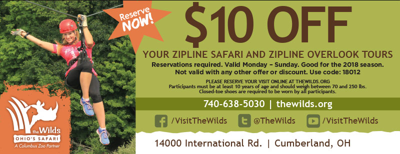 Columbus Vacation Savings Coupon – $10 off Zipline Safari and Zipline Overlook Tours