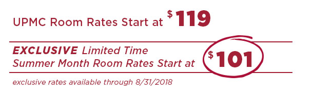 UPMC room rates