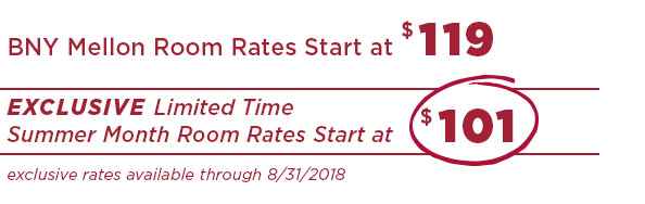 BNY Mellon room rates