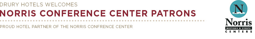 Proud Hotel Partner of the Norris Conference Center