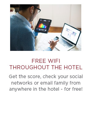Free Wifi throughout the hotel