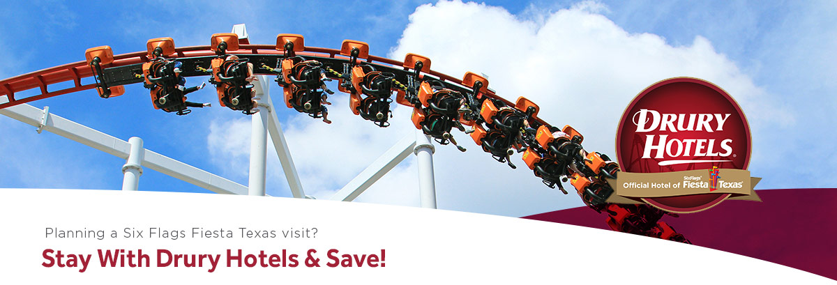 Planning a Six Flags Fiesta Texas visit? Stay with Drury Hotels & Save!