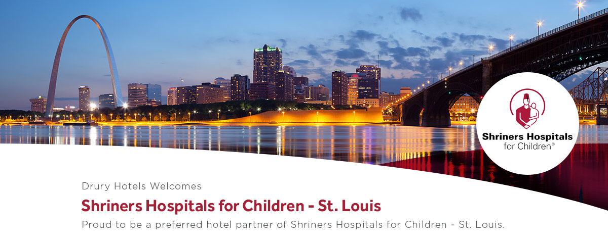 Drury Hotels is proud to be a preferred hotel partner of Shriners Hospitals for Children – St. Louis