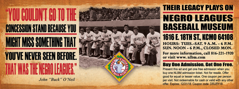 Kansas City Vacation Savings Coupon - Buy one admission, get one free at the Negro Leagues Baseball Museum