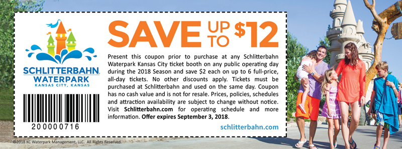 Kansas City Vacation Savings Coupon – Save up to $12 at Schlitterbahn Waterpark Kansas City