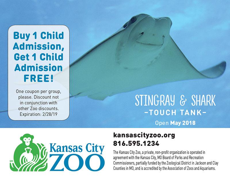 Kansas City Vacation Savings Coupon - Buy 1 child admission, get 1 child admission free at Kansas City Zoo