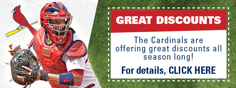 St. Louis Vacation Savings Coupon – The St. Louis Cardinals are offering great discounts all season long!