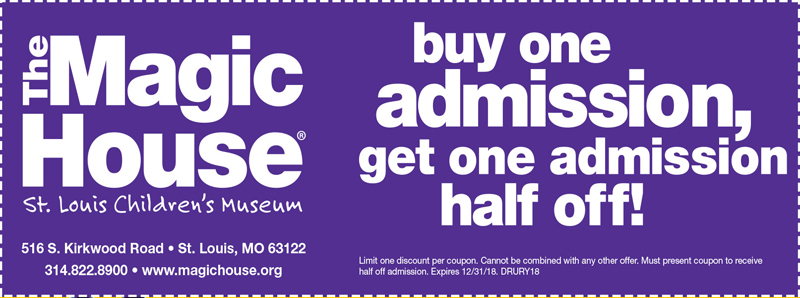 St. Louis Vacation Savings Coupon - Buy one admission, get one admission half off at the Magic House