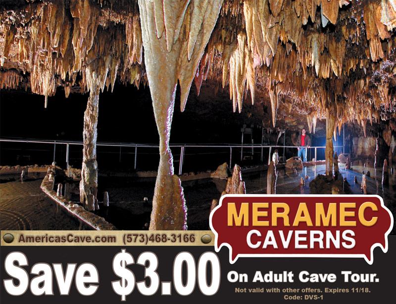 St. Louis Vacation Savings Coupon - Save $3 on adult cave tour at Meramec Caverns