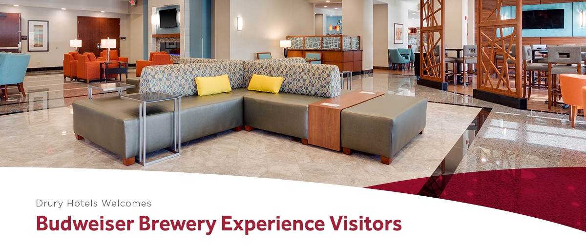 Drury Hotels Welcomes Budweiser Brewery Experience Visitors