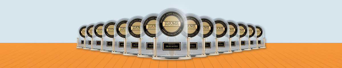 Drury Hotels Takes Top Honors from JD Power for 15th Consecutive Year