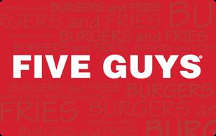 $50 Five Guys Gift Card